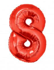 Palloncino alluminio gigante rosso numero 8