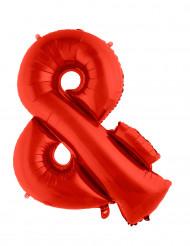 Palloncino alluminio rosso simbolo &