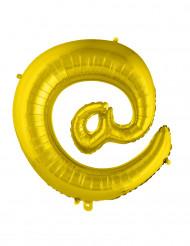 Palloncino alluminio dorato simbolo @
