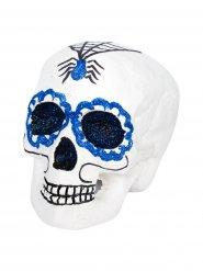 Cranio Dia de los muertos blu