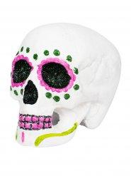 Cranio Dia de los muertos rosa