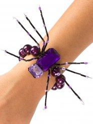 Bracciale con ragno viola