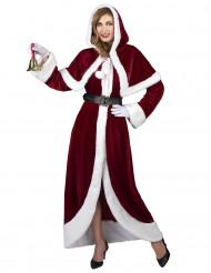 Costume lusso Mamma Natale per donna