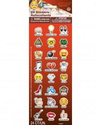 24 adesivi con emoticons Emoji™