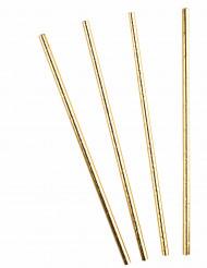 10 cannucce in cartone dorate metallizzate