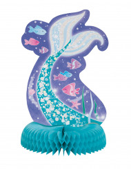 Centrotavola sirena blu