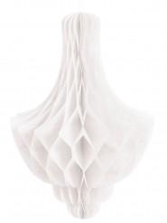 Decorazione alveolata a candeliere bianca