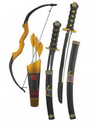 Kit armi ed arco ninja per bambino
