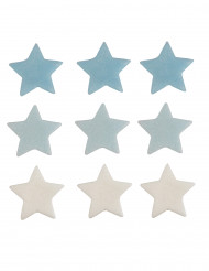 9 stelle di zucchero per torte bianche e celesti