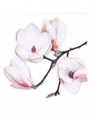 20 tovaglioli di carta a fiori bianchi