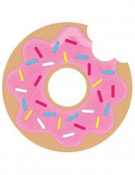 8 inviti di compleanno donuts rosa