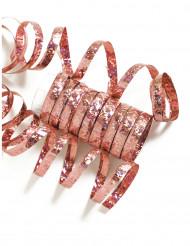 10 serpentine rosa con brillantini