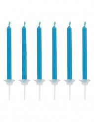 12 candeline blu con fiamma blu