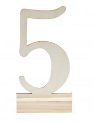 Segnaposto con numero in legno