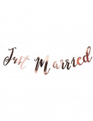 Ghirlanda Just Married color oro rosa
