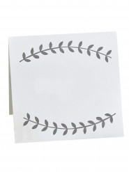 10 segnaposto bianchi con rametti