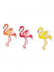 Ghirlanda con fenicotteri colorati