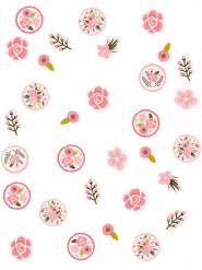 Coriandoli di cartone con fiori
