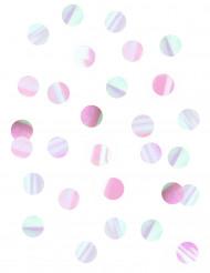 Coriandoli da tavola iridescenti