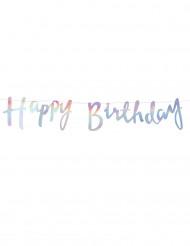 Ghirlanda Happy Birthday iridescente