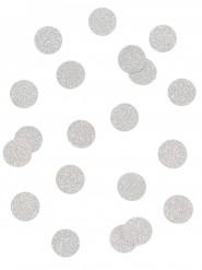 Coriandoli da tavola argento con brillantini