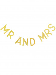 Ghirlanda Mr & Mrs color oro