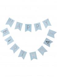 2 ghirlande Happy Birthday celesti