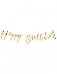 Ghirlanda Happy Birthday color oro