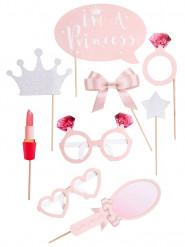 Kit photobooth 9 accessori principessa