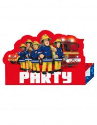 8 inviti di compleanno a tema Sam il pompiere™