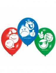 6 palloncini in lattice Smiley emoticons™