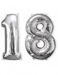 2 palloncini in alluminio argento 18 anni