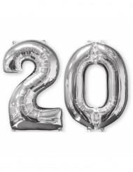 2 palloncini in alluminio argento 20 anni