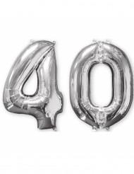 2 palloncini in alluminio argento 40 anni