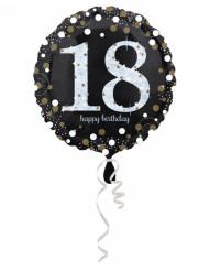Palloncino di alluminio Happy Birthday 18 anni
