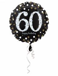 Palloncino alluminio Happy Birthday scintillante 60 anni
