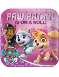 8 piatti in cartonePaw Patrol™ rosa 23 cm