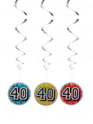 3 sospensioni 40 anni colorate