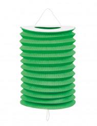 12 lampioni verdi di carta 20 cm