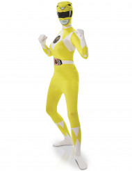 Costume seconda pelle giallo da Power Rangers™ donna