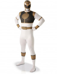 Costume seconda pelle bianco da Power Rangers™ adulto
