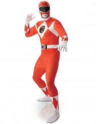 Costume seconda pelle rosso da Power Rangers™ adulto
