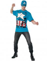 Costume Captain America™ con maschera per adulto