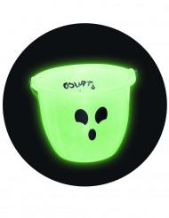 Secchiello per caramelle fluorescente