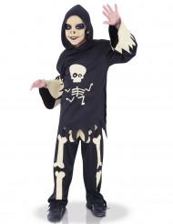 Costume scheletro con occhi in movimento bambino