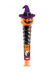 Zucca luminosa con caramelle Halloween