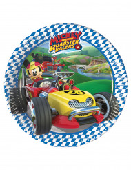 8 piattini di carta Topolino racing™ 20 cm