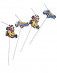 6 cannucce con medaglia Topolino racing™