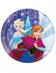 8 piatti viola in cartone Frozen™ 23 cm