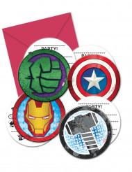 6 inviti di compleanno con buste Avengers Mighty™